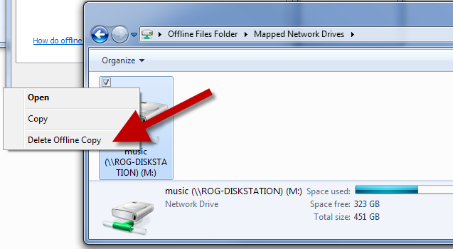 Delete and clear space taken up by Offline files in Windows